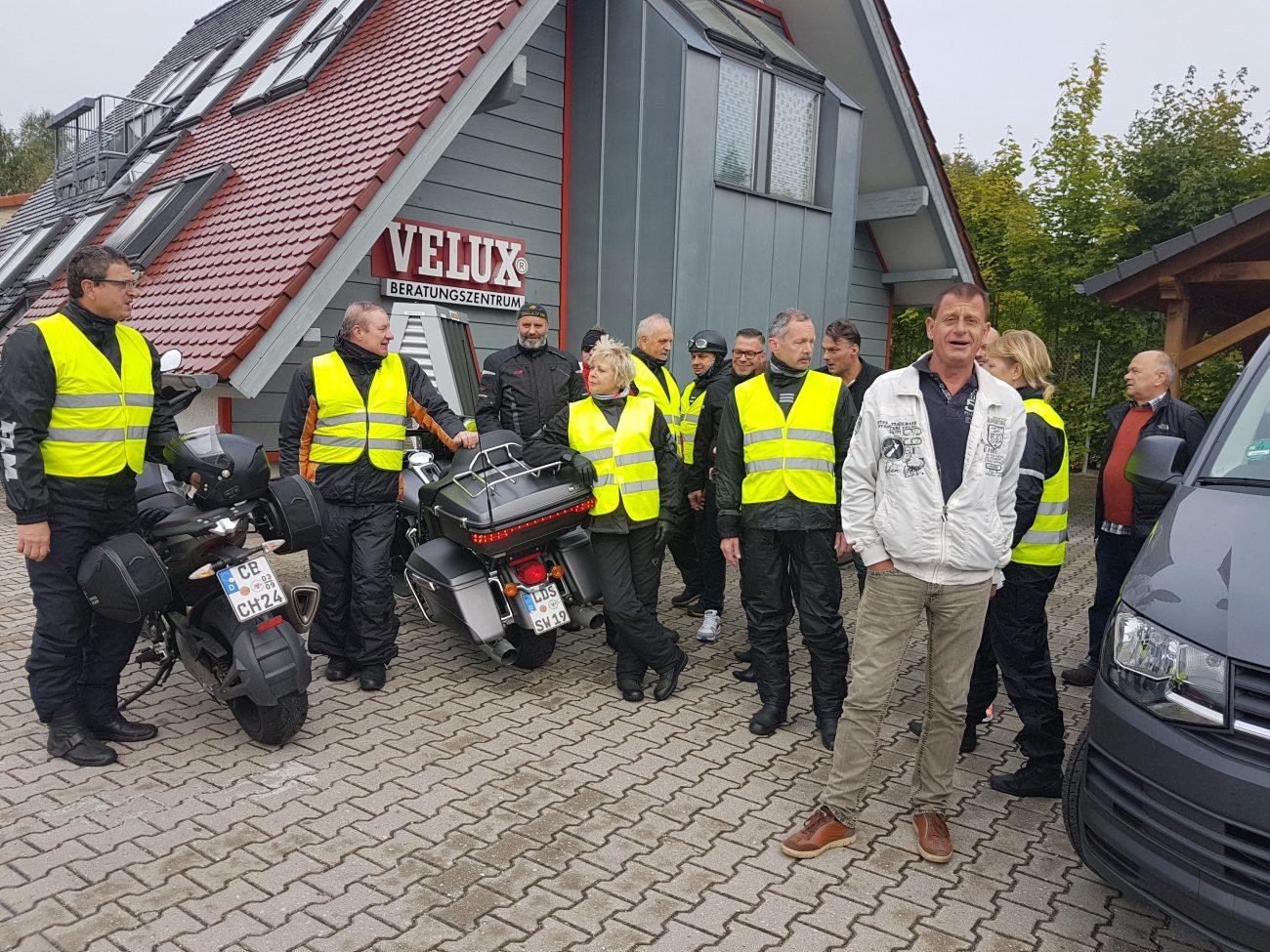 17. Motorradtour der Dachdecker-Innung Cottbus