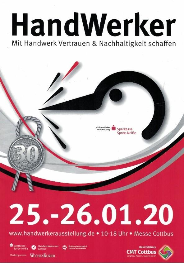 Einladung zur 30. Handwerkerausstellung in Cottbus