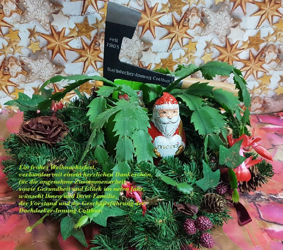 Wünsche zum Weihnachtsfest und zum Jahreswechsel